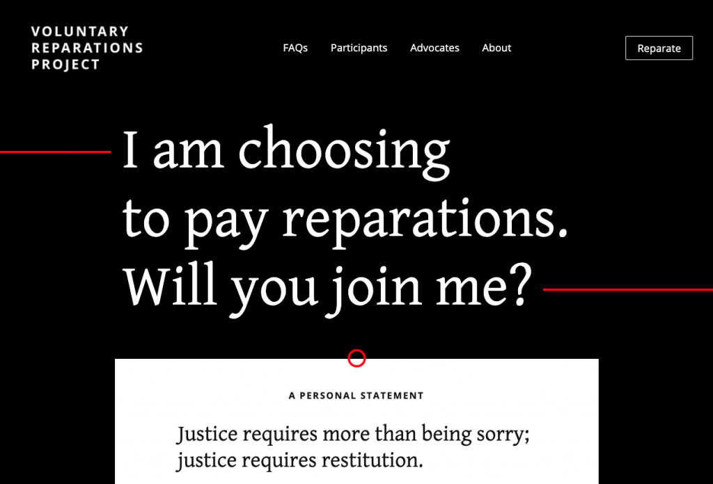voluntary reparations project homepage